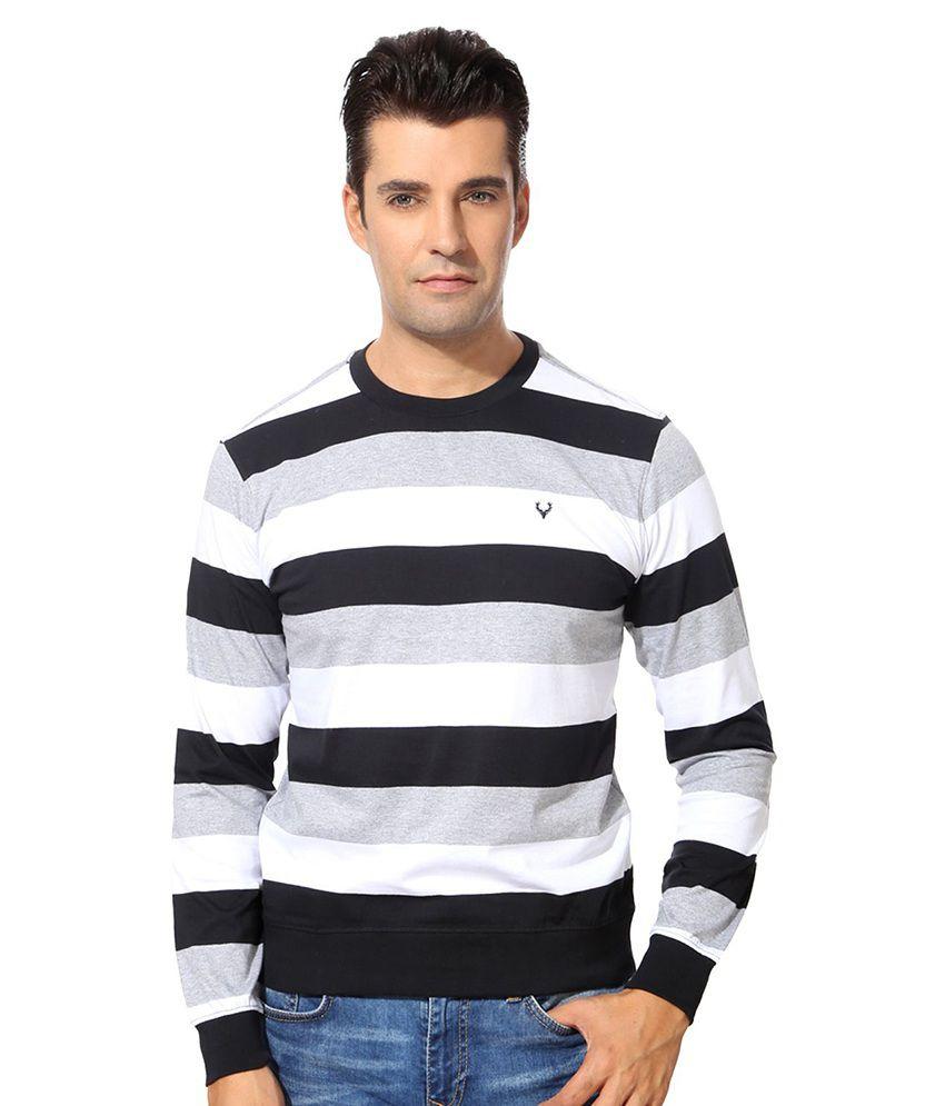 Allen Solly Brown Cotton Blend T-shirt