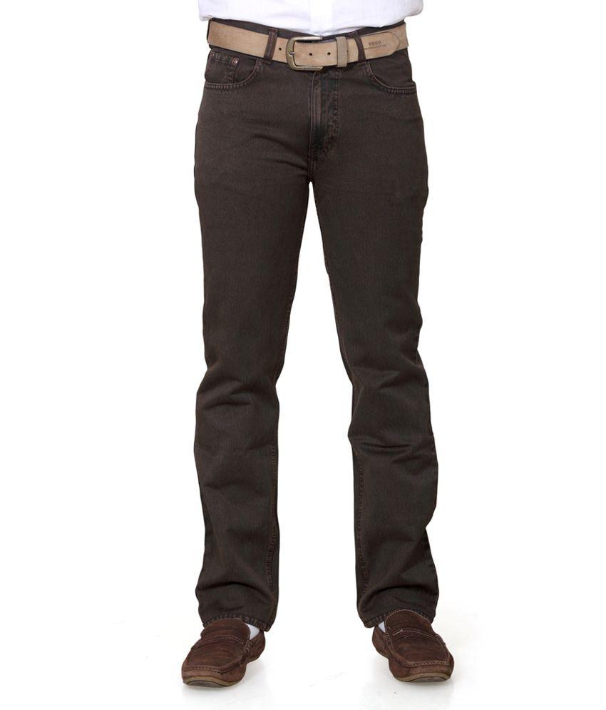 Klix Jeans Beige Regular Fit Jeans
