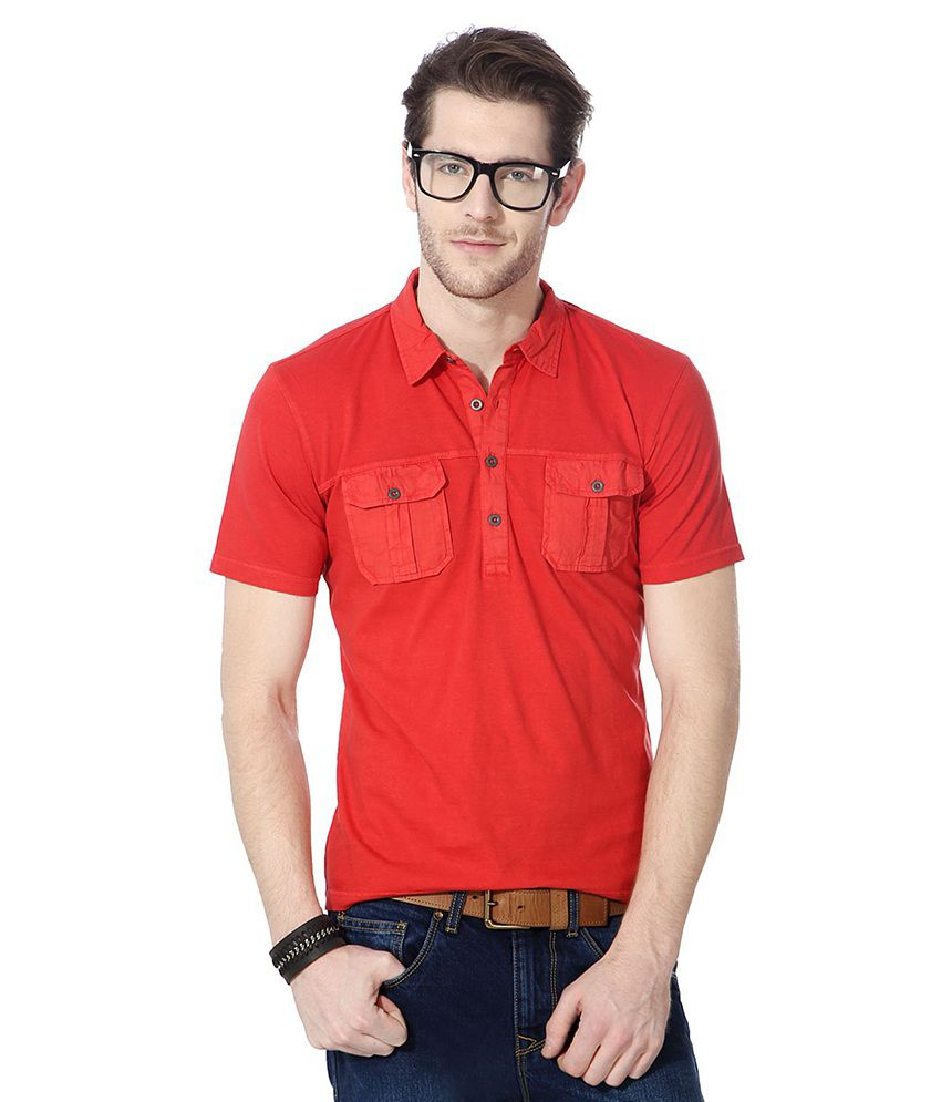 People Red Cotton T-shirt