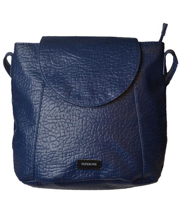 Peperone Psln616 Blue Sling Bags