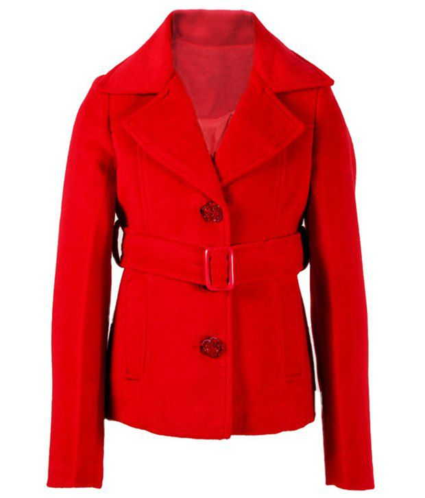 Eight26 By Ritu Wears Red Coat For Girls