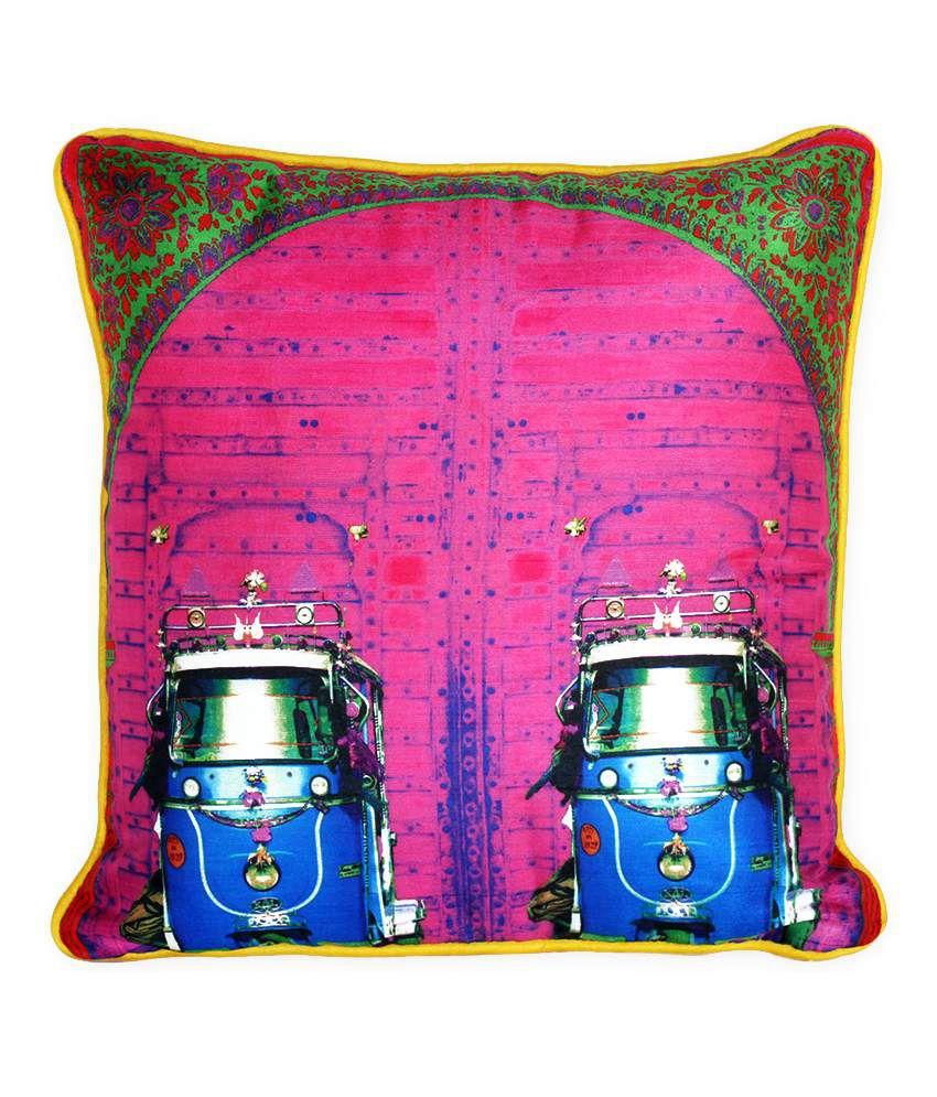 Fatfatiya Pink Bloom Cushion Cover