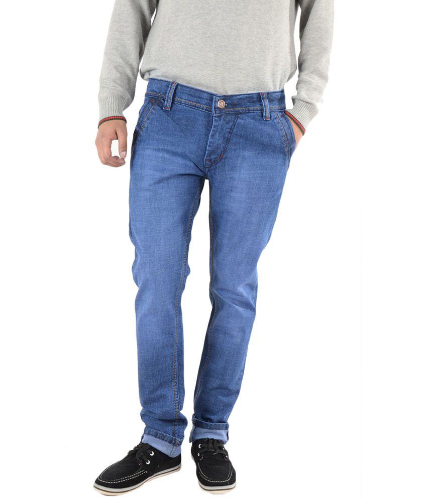 K'live Light Blue Regular Cotton Men's Jeans