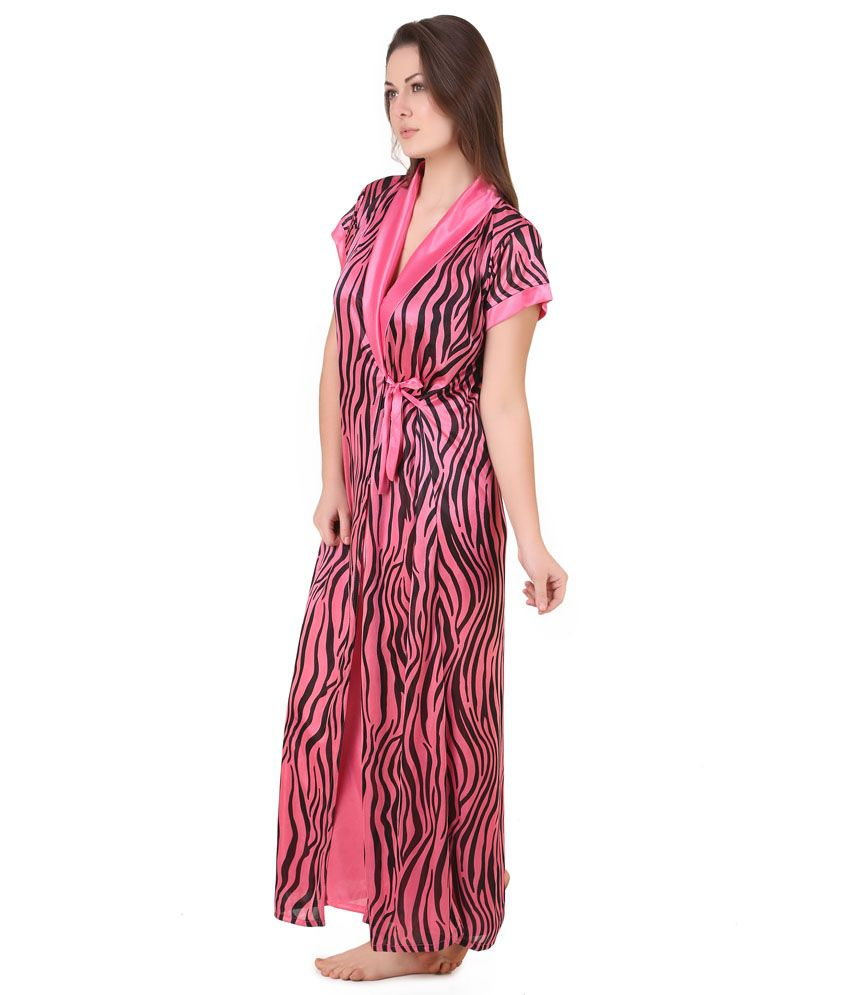 Buy Masha Pink Satin Robe Pack of 2 Online at Best Prices in India ... 5aa7d9356