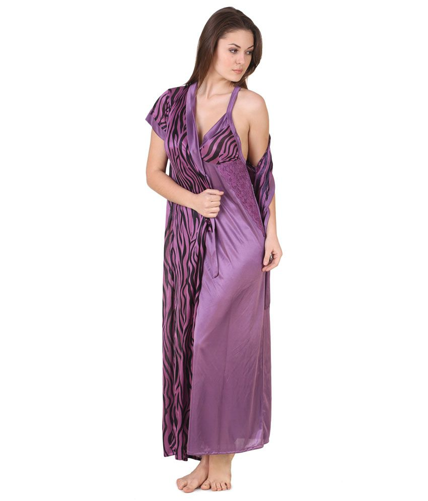 Buy Masha Purple Satin Robe Pack of 2 Online at Best Prices in India -  Snapdeal 915341cca