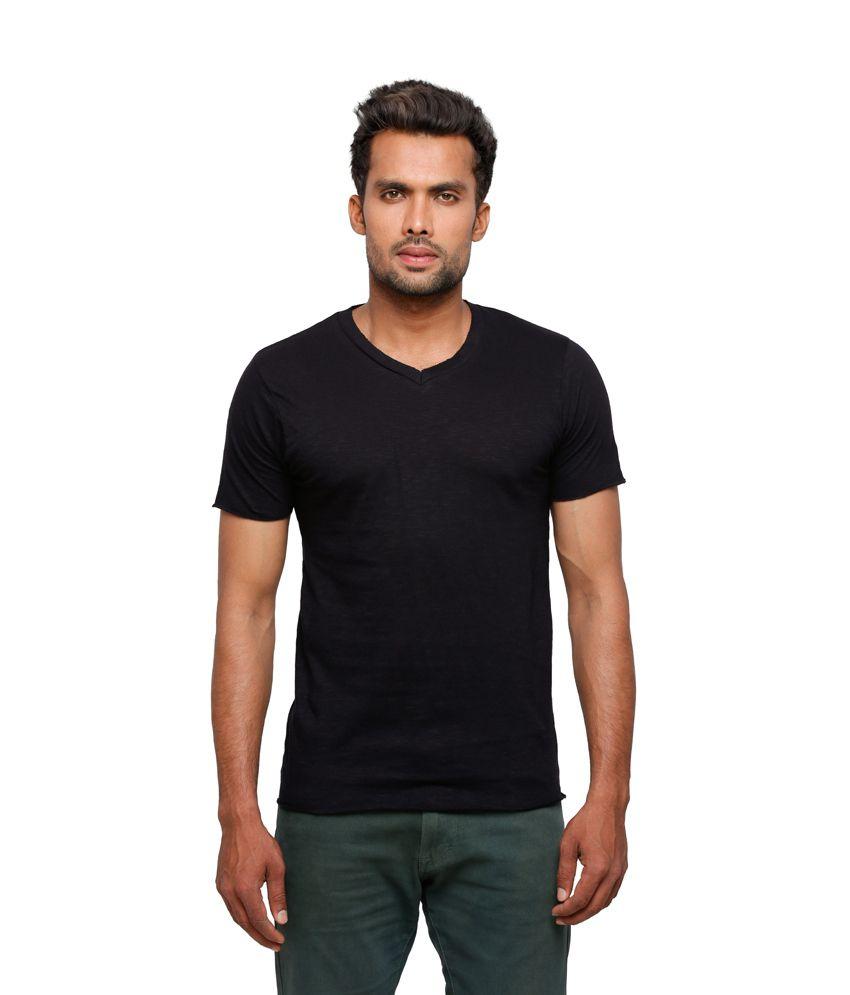 Globus Men Black Casual T Shirt