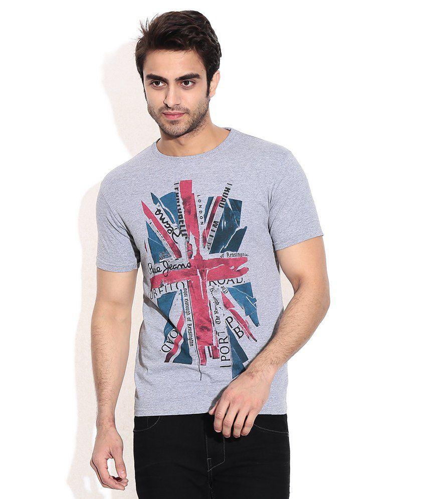 Pepe Jeans Gray Cotton T-shirt