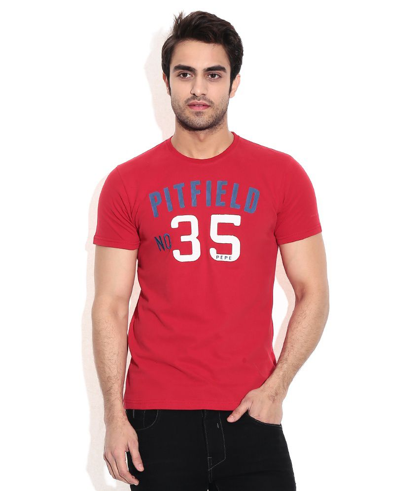 Pepe Jeans Red Cotton T-shirt