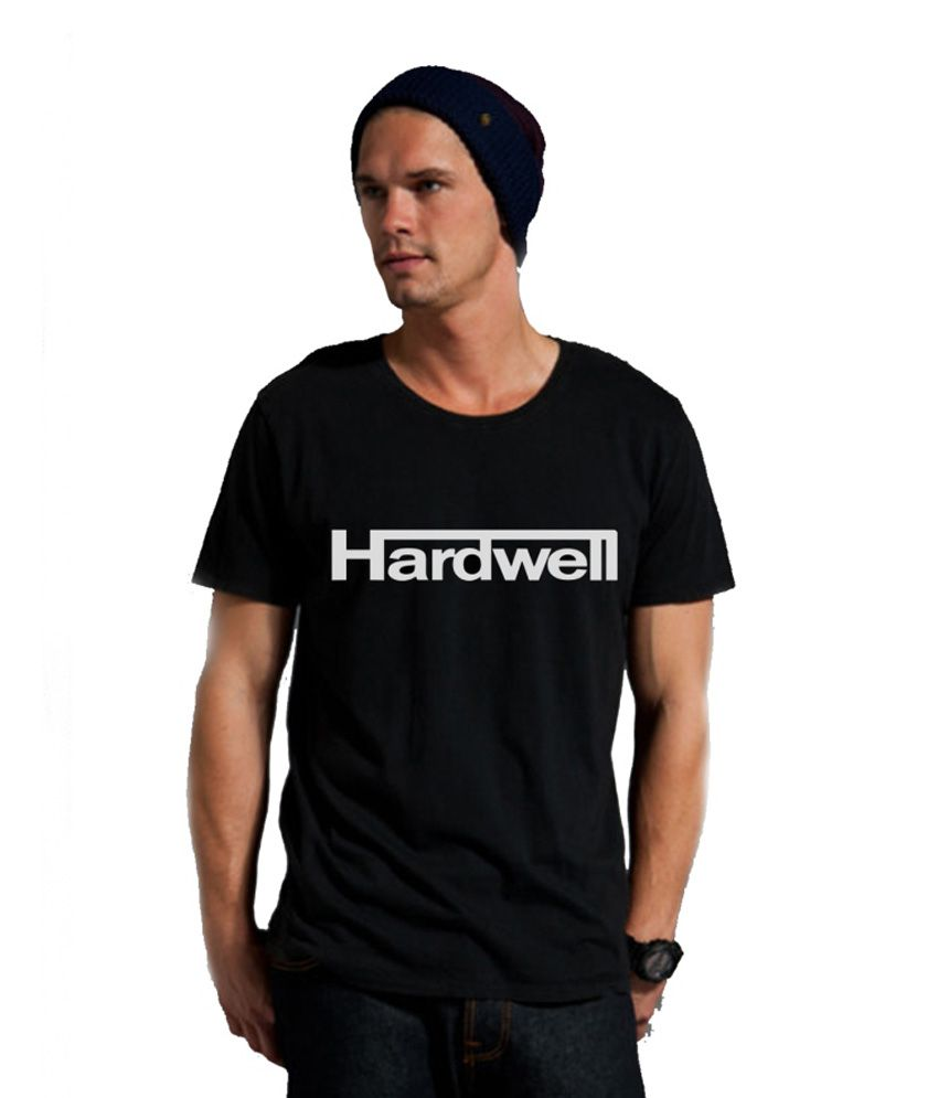 Ravetastic Black Hardwell Printed T Shirt