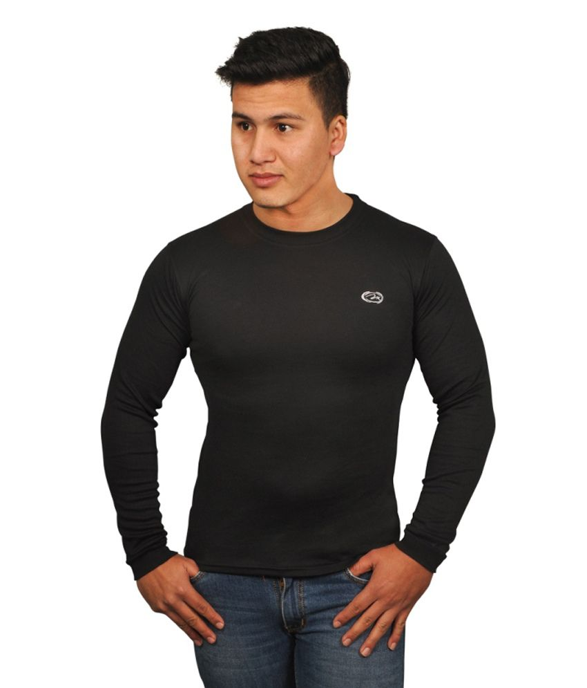 Younky Solid Men Round Neck T Shirt