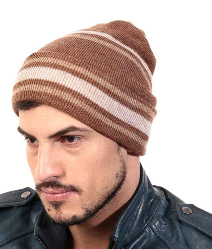 Zanky Brown Woollen Winter Caps