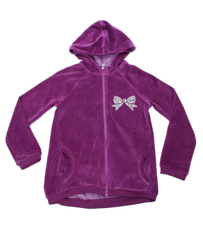 United Colors Of Benetton Purple Hooded Sweatshirt
