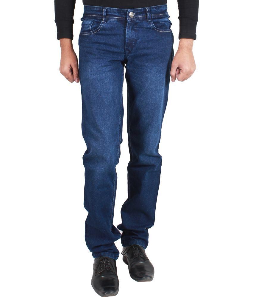 Jack Berry Blue Cotton Blend Light Jeans For Men's