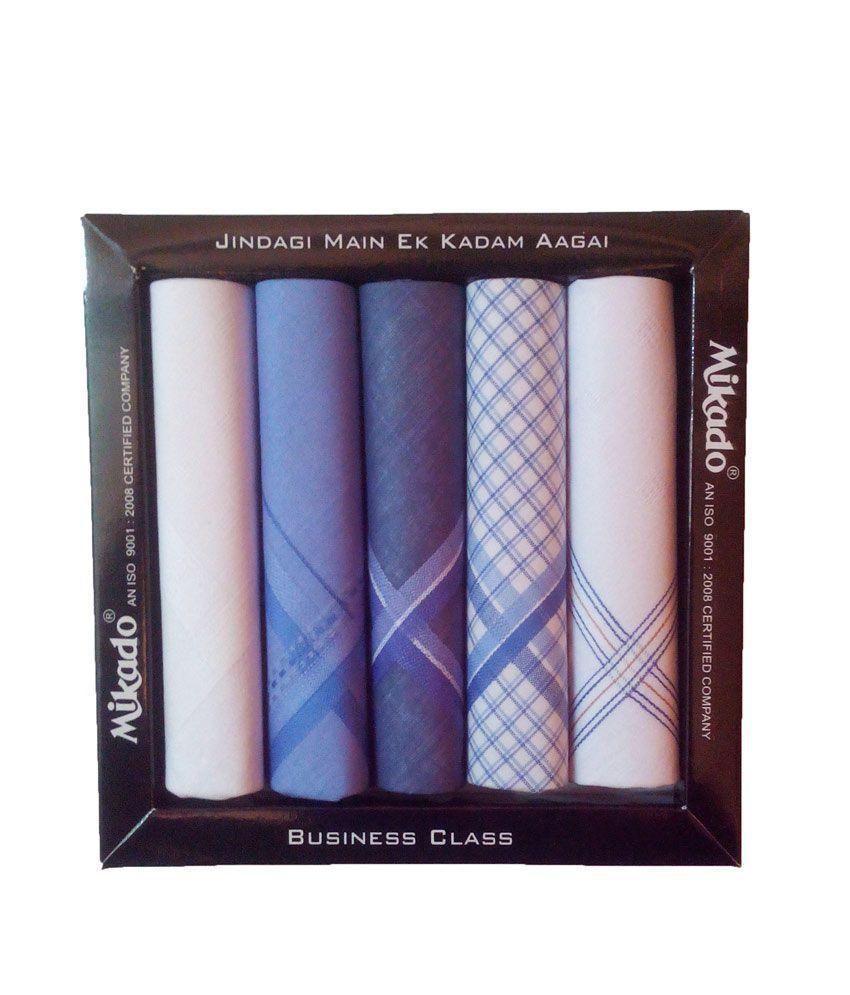 Mikado Exculsive 5 In 1 Multicolour Handkerchief Pack- 5pcs.