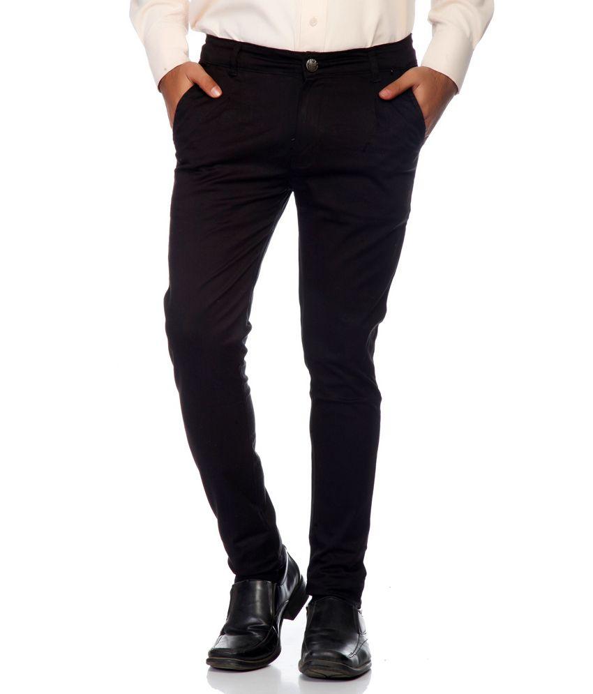Haltung Black Cotton Blend Trouser