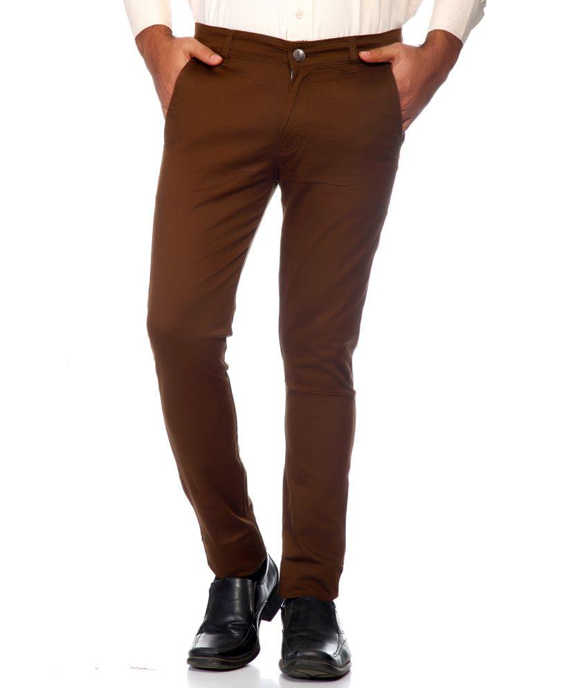 Haltung Brown Cotton Blend Trouser