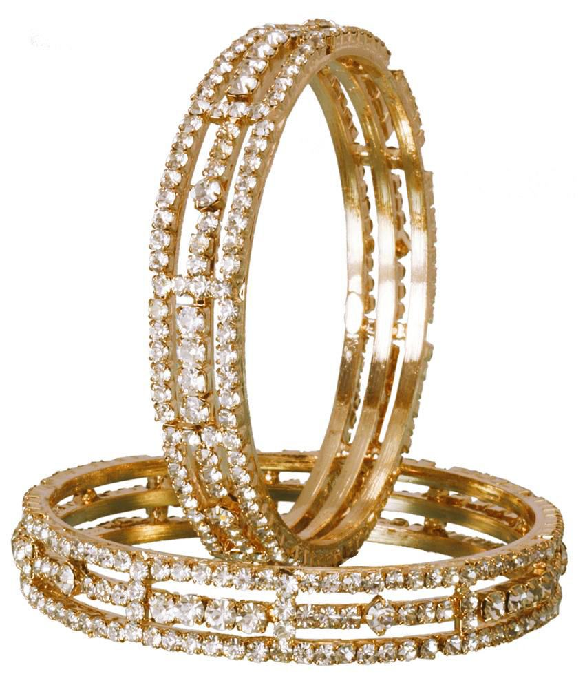Jac Gold And Silver Beautiful Bangles (2 Pieces)