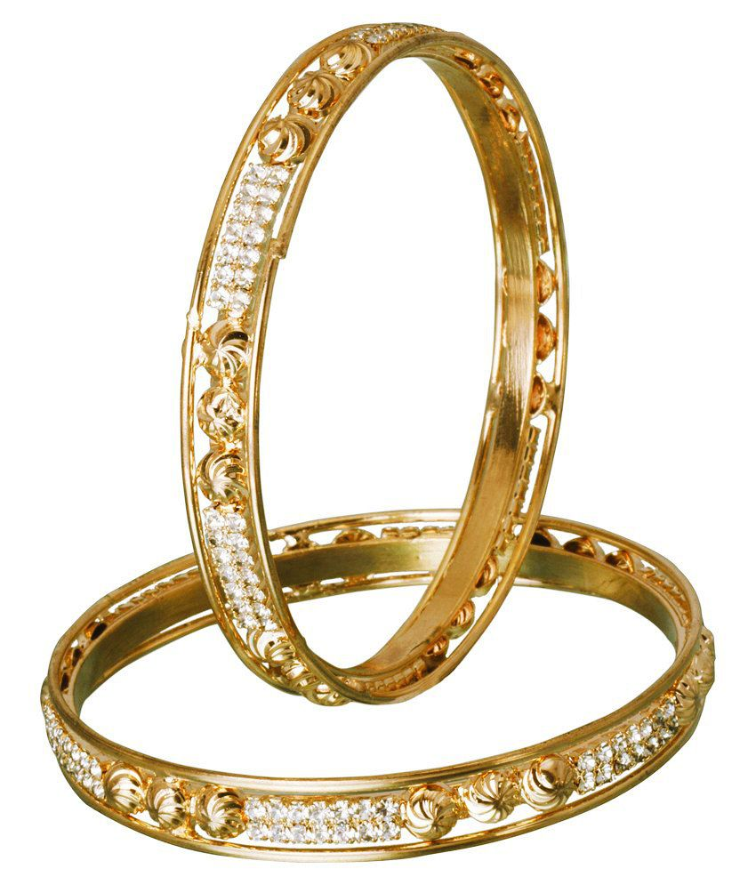 Jac Stunning Gold Style Diva Bangles (2 Pieces)