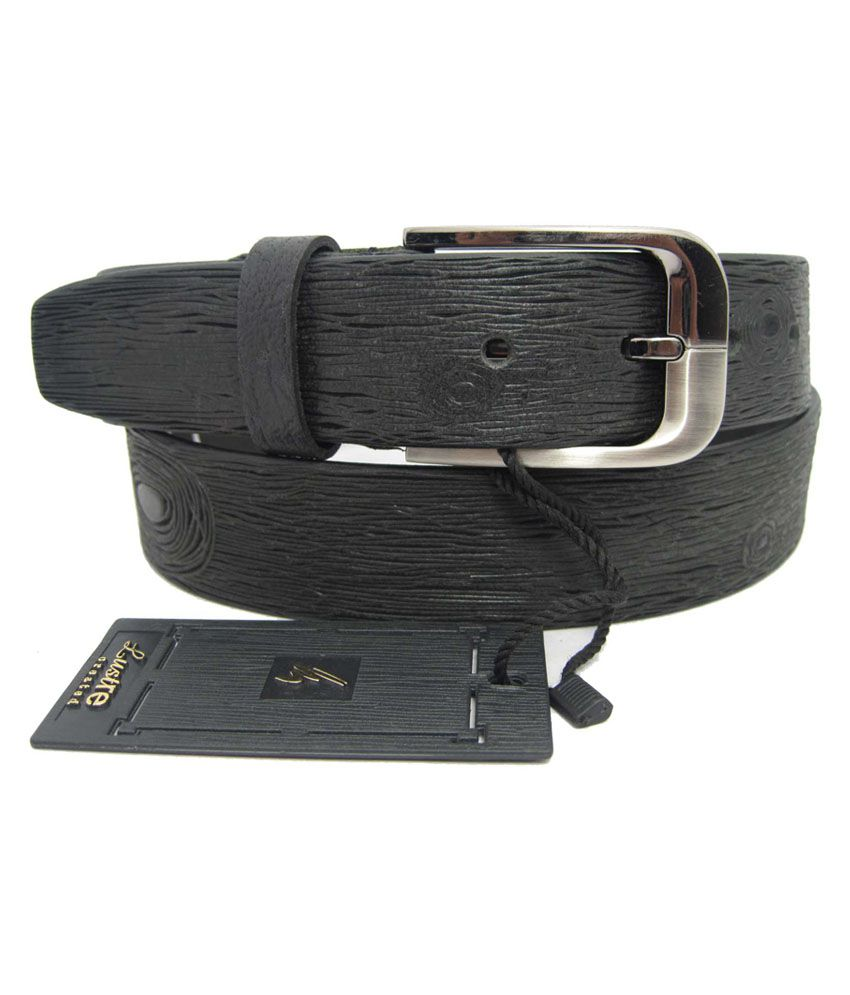 Lustre International Brown Leather Single Pin Buckle Formal Belt For Men