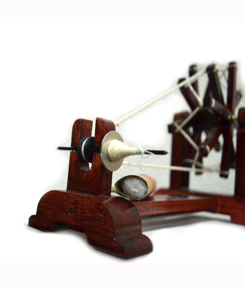 Bhatigal Handicrafts Spinning Wheel (gandhi Charkha): Buy