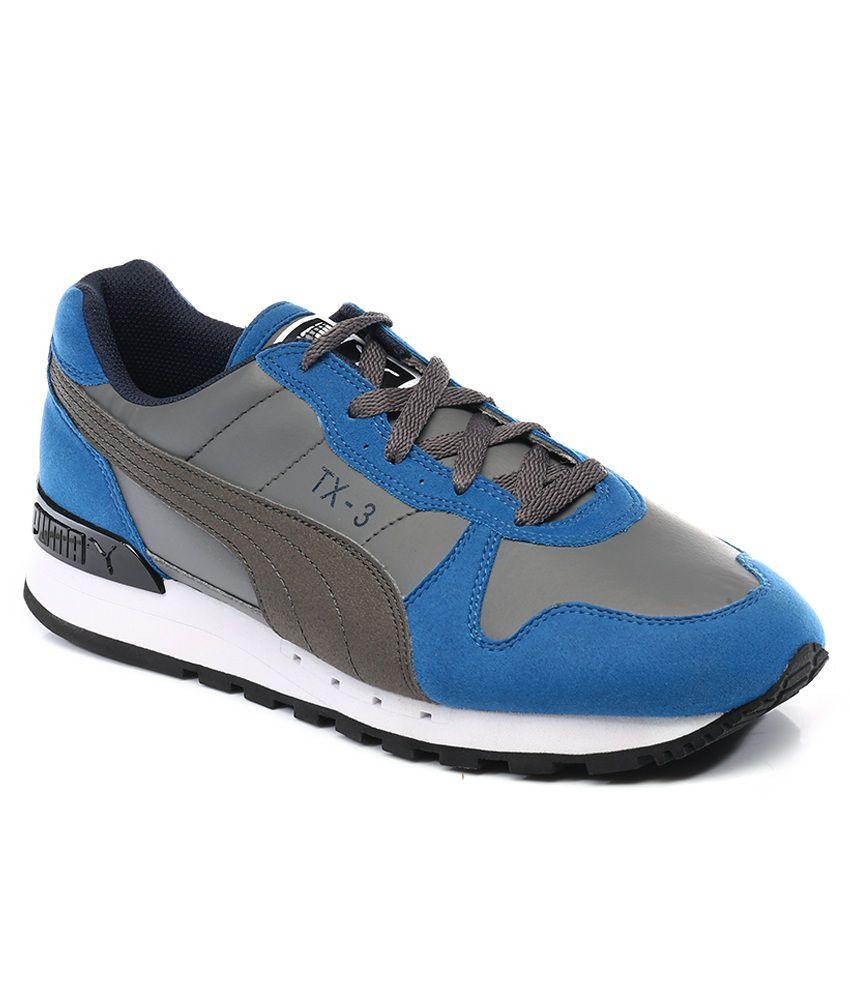 low priced 9fe4d 46fc8 Puma TX-3 Gray And Blue Sport Shoes ...