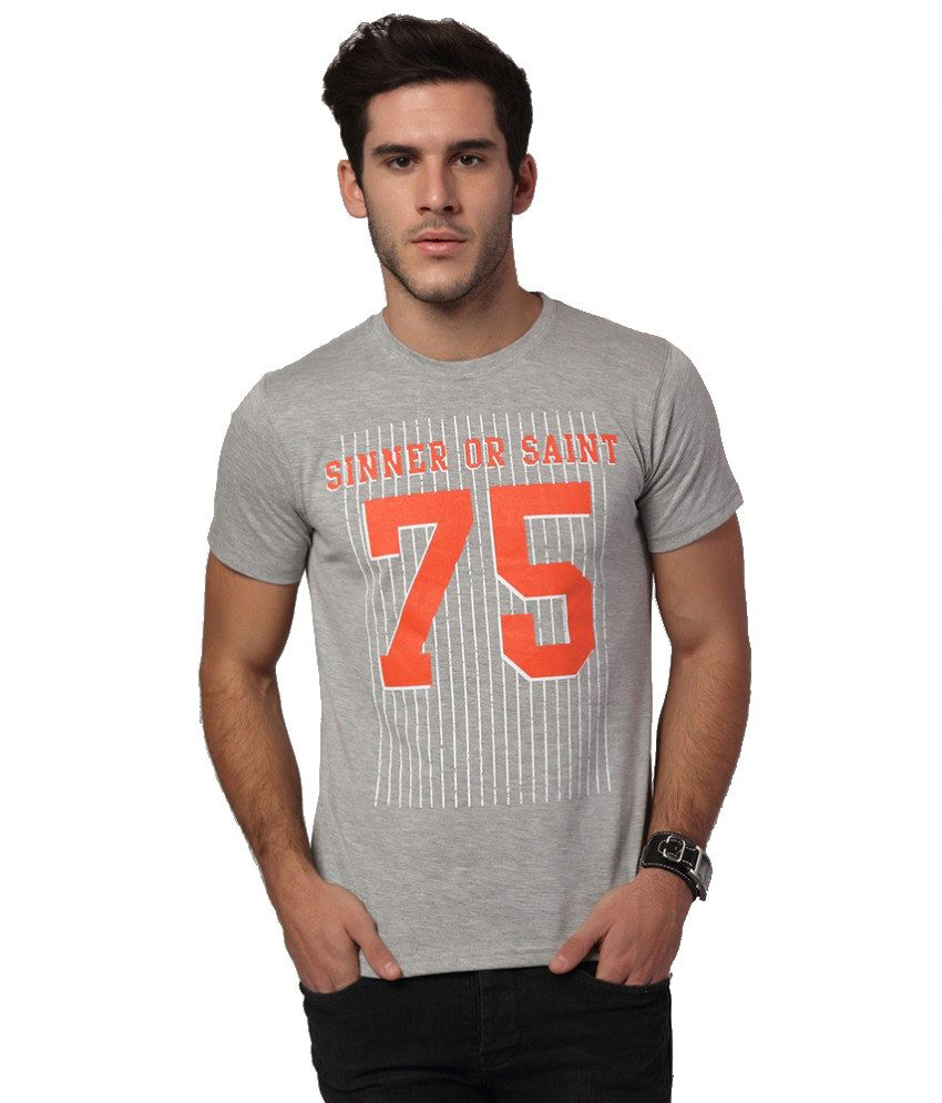 Yepme Gray Cotton T-shirt