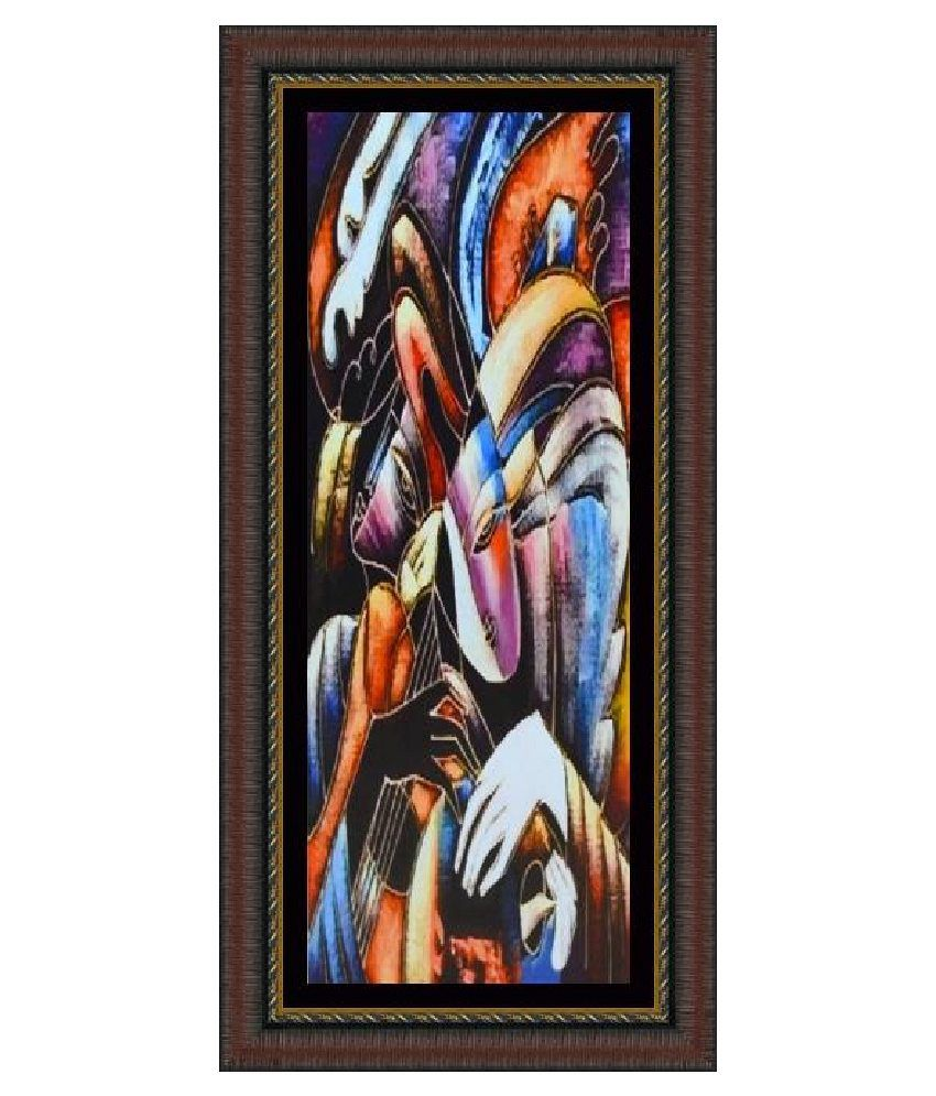 artsnyou abstract faces printed painting with frame