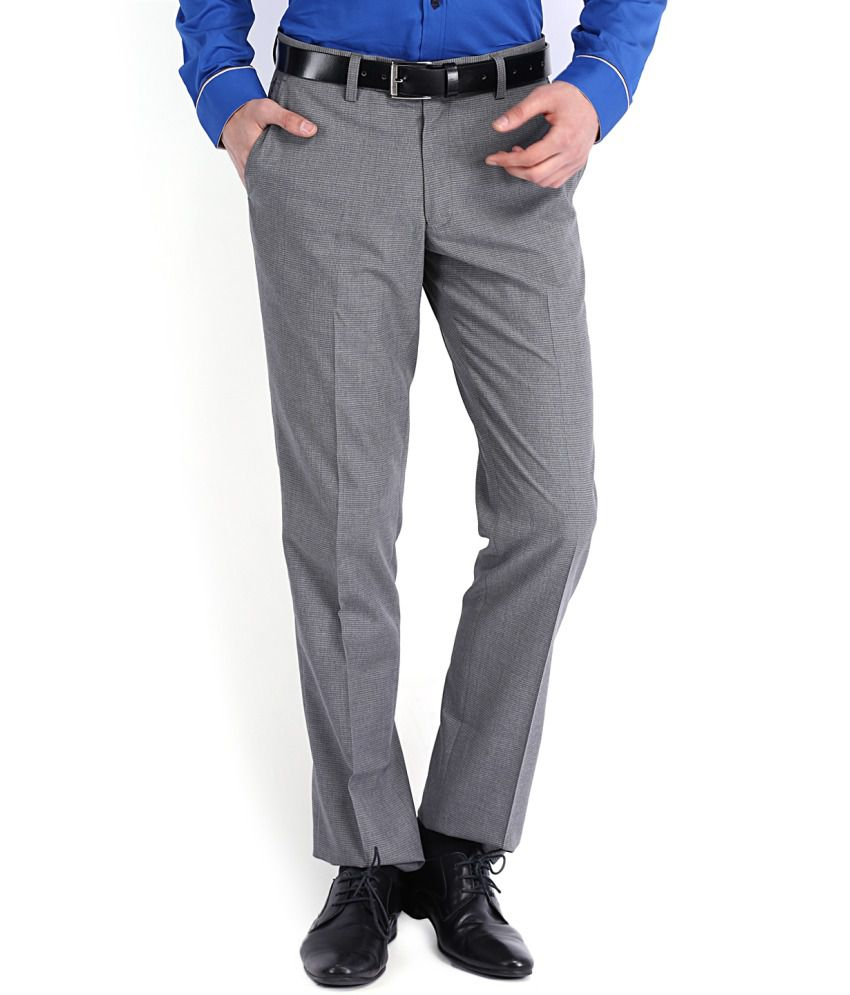 Black Coffee Gray Regular Formals