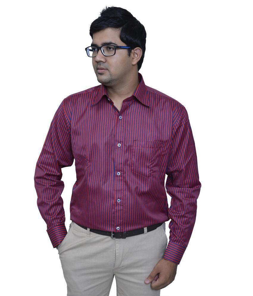 Studio nexx dark pink striped men 39 s formal shirt buy for Mens dark pink dress shirt