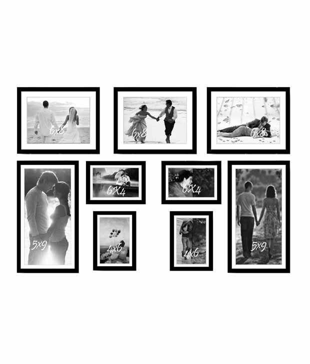 Painting Mantra Mixed Frames Family Tree Black Photo Memory Wall ...
