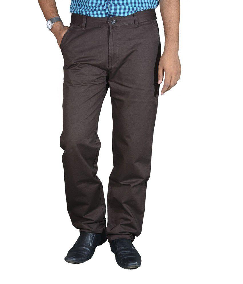 Studio Nexx Coffee Cotton Chinos Men's Trouser