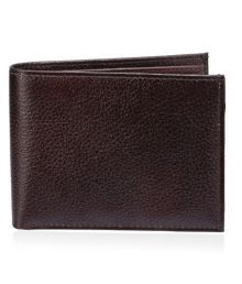 Contrast Men Casual, Formal Brown Genuine Leather Wallet (5 Card Slots)