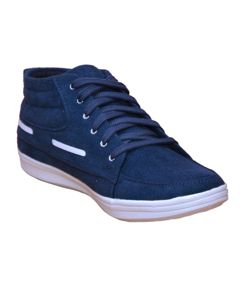 Docasto Blue Mesh Mens Casual Shoes