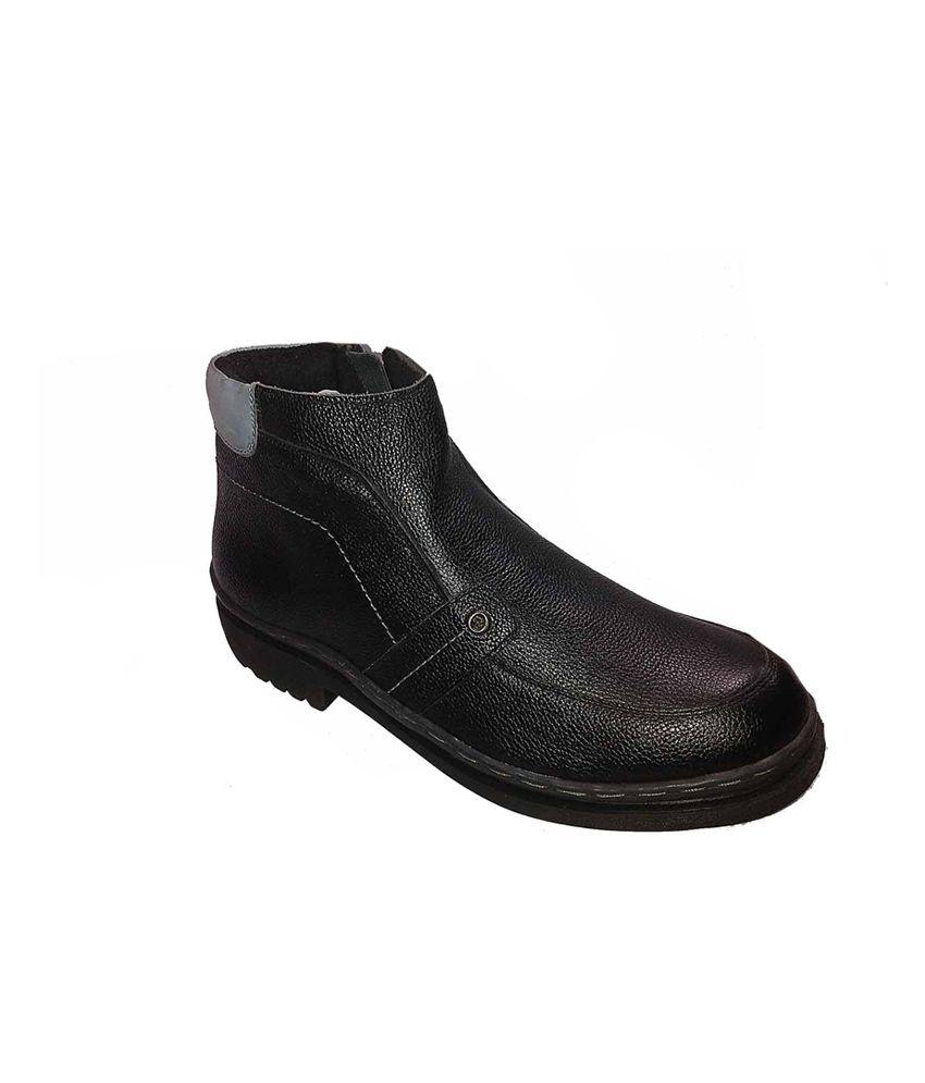Sharon Black Leather Men Boots