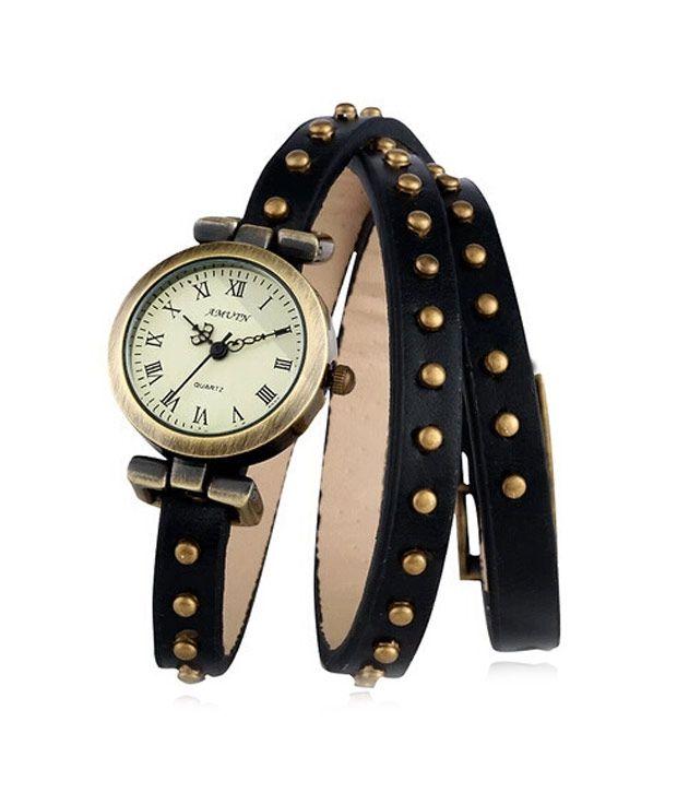Frenzy Classic Women Vintage Dot Nails Bracelet Watch Ladies Wristwatches -  Black Price in India: Buy Frenzy Classic Women Vintage Dot Nails Bracelet  Watch ...