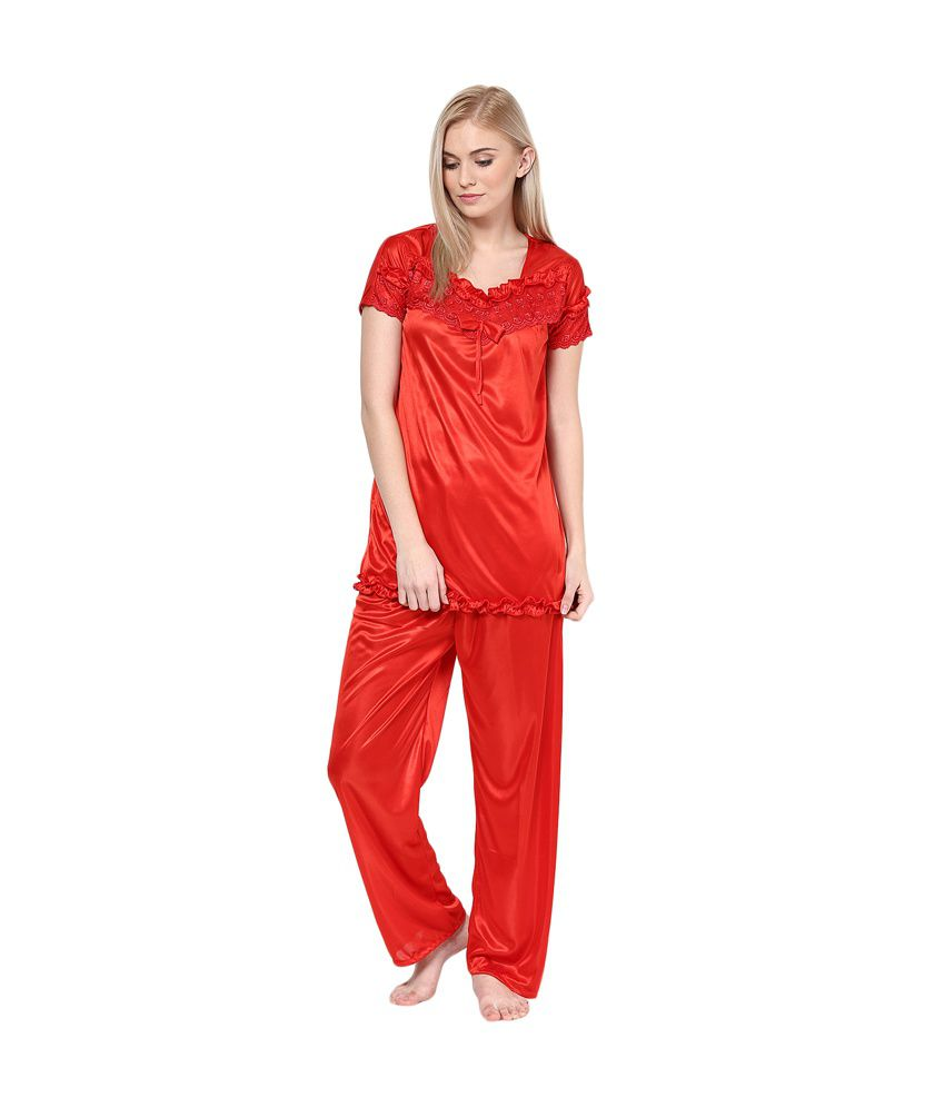 ba4a7f547f4 Buy Intima Red Night Suit Online at Best Prices in India - Snapdeal