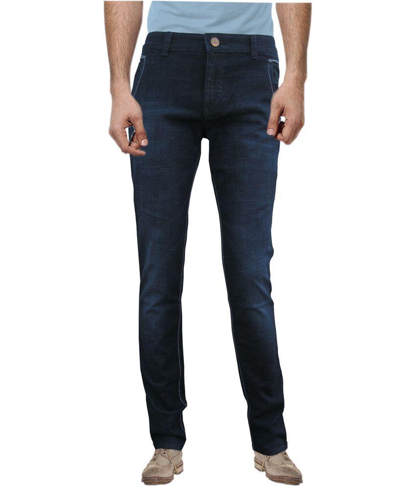 White Pelican Blue Cotton Slim Fit Jeans