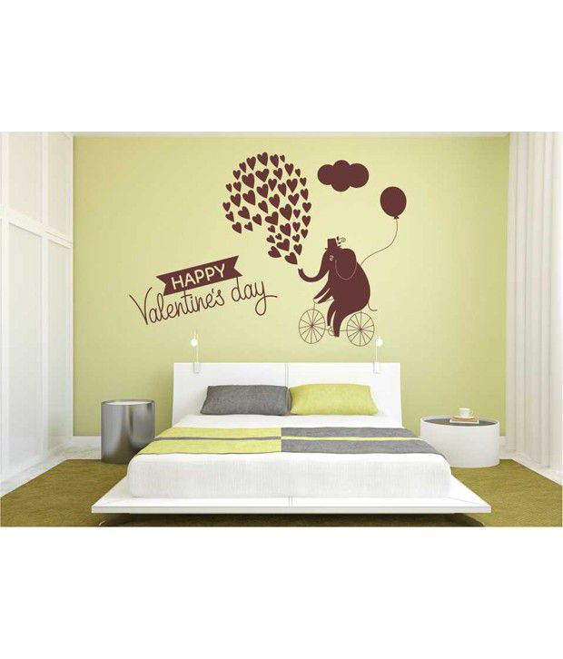 Home decor tatoos valentines day wall sticker buy home for Snapdeal products home kitchen decorations