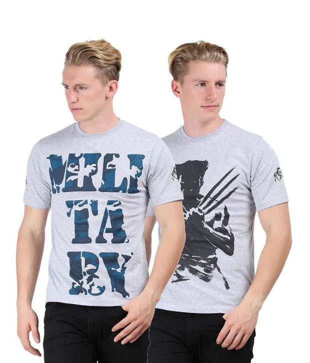 Rock I Mens Fashion Printed T Shirt Pack Of 2 Combo 26