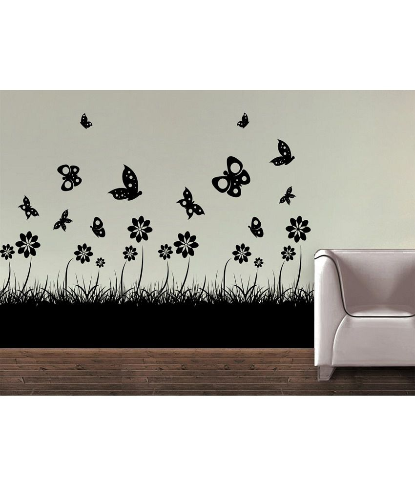 Snapdeal Wall Decor Items : Decor kafe butterfly floral wall decal buy