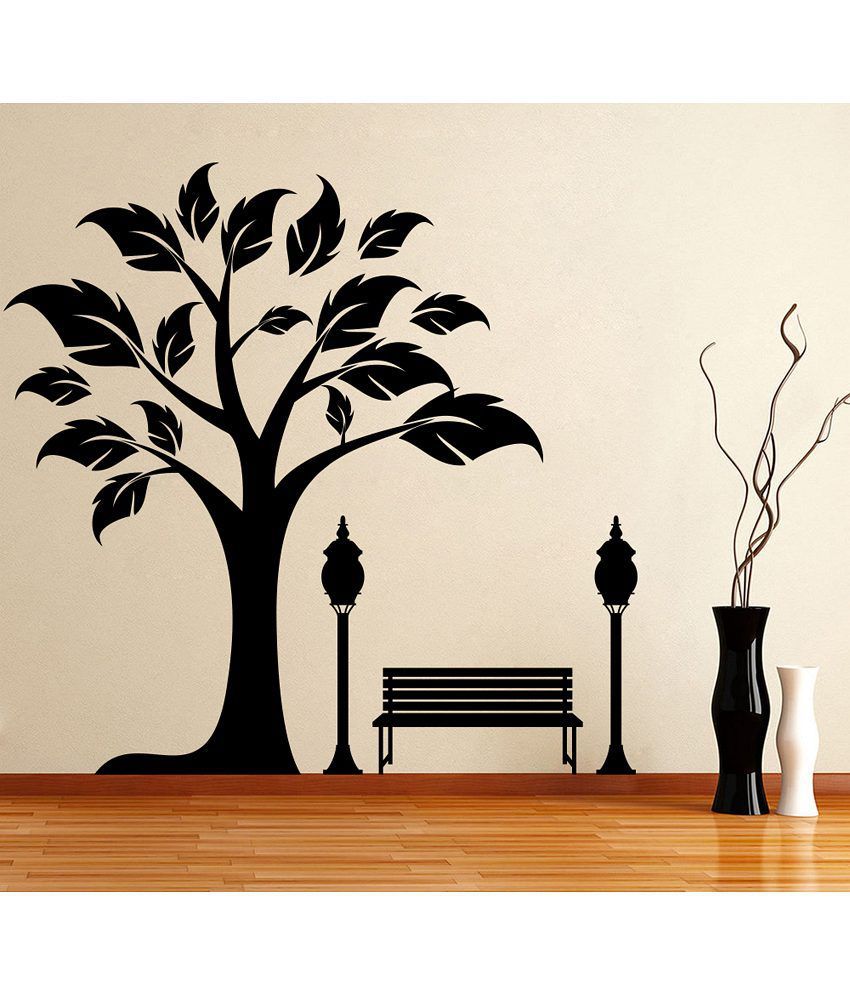 Snapdeal Wall Decor Items : Decor kafe tree side wall decal buy