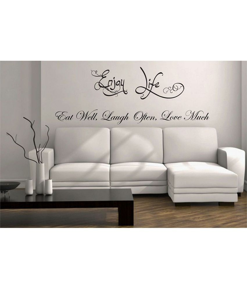 Snapdeal Wall Decor Items : Decor kafe wall quote decal buy