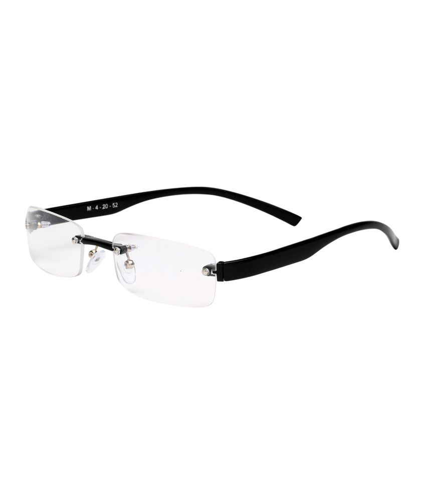 Estycal Black Non Metal Stylish Rim Less Frames - Buy Estycal Black ...