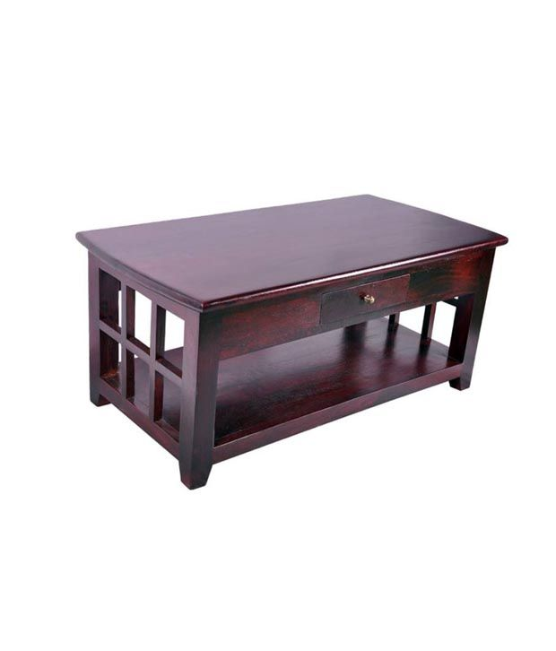 Ethnic Handicrafts Coffee Table Dark Red Megahony Buy Ethnic - Dark red coffee table
