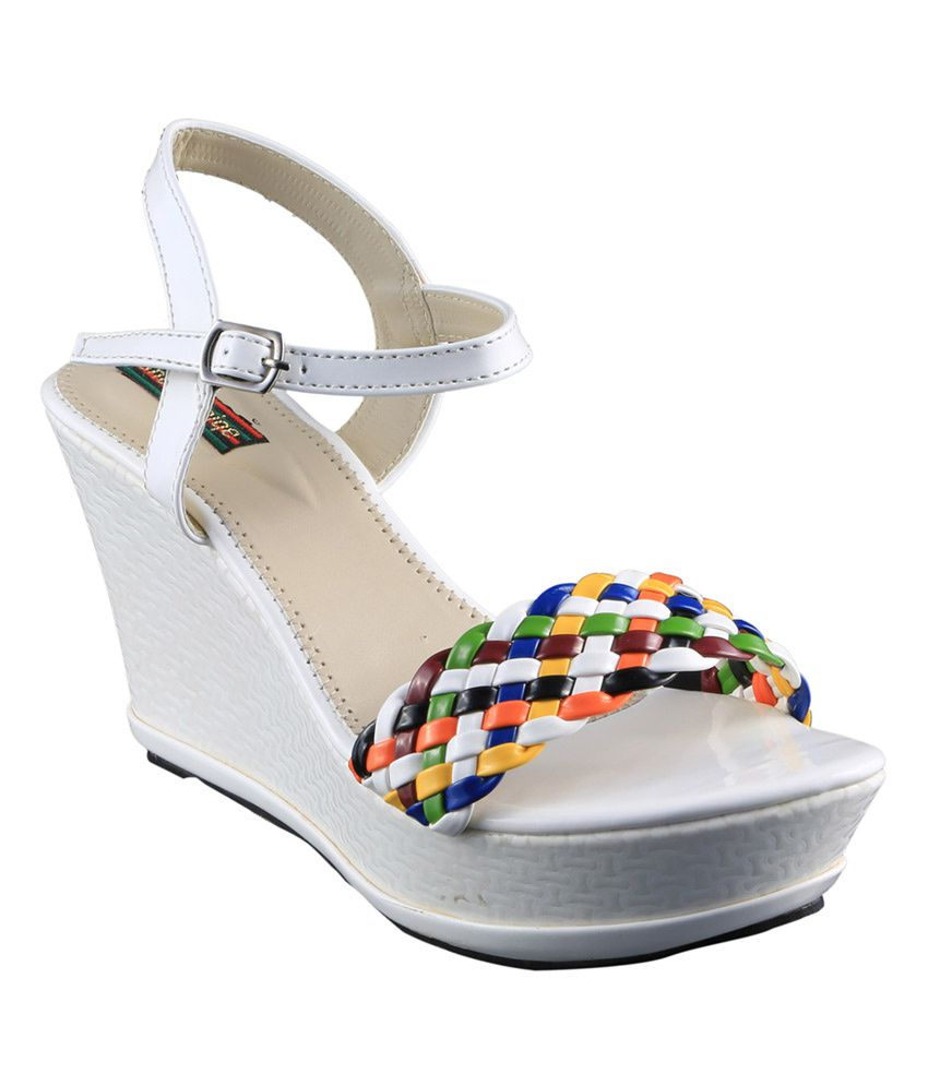 84a2fe3a8e8b Sneha Unique Footwear White High Heel T-strap Daily Wedges Women Sandals  Price in India- Buy Sneha Unique Footwear White High Heel T-strap Daily  Wedges ...