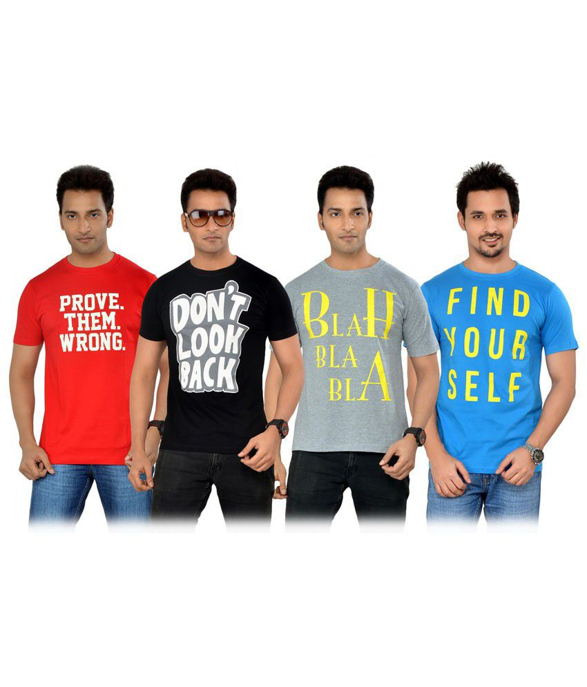TSG Escape Multi Color T-Shirt -Pack of 4