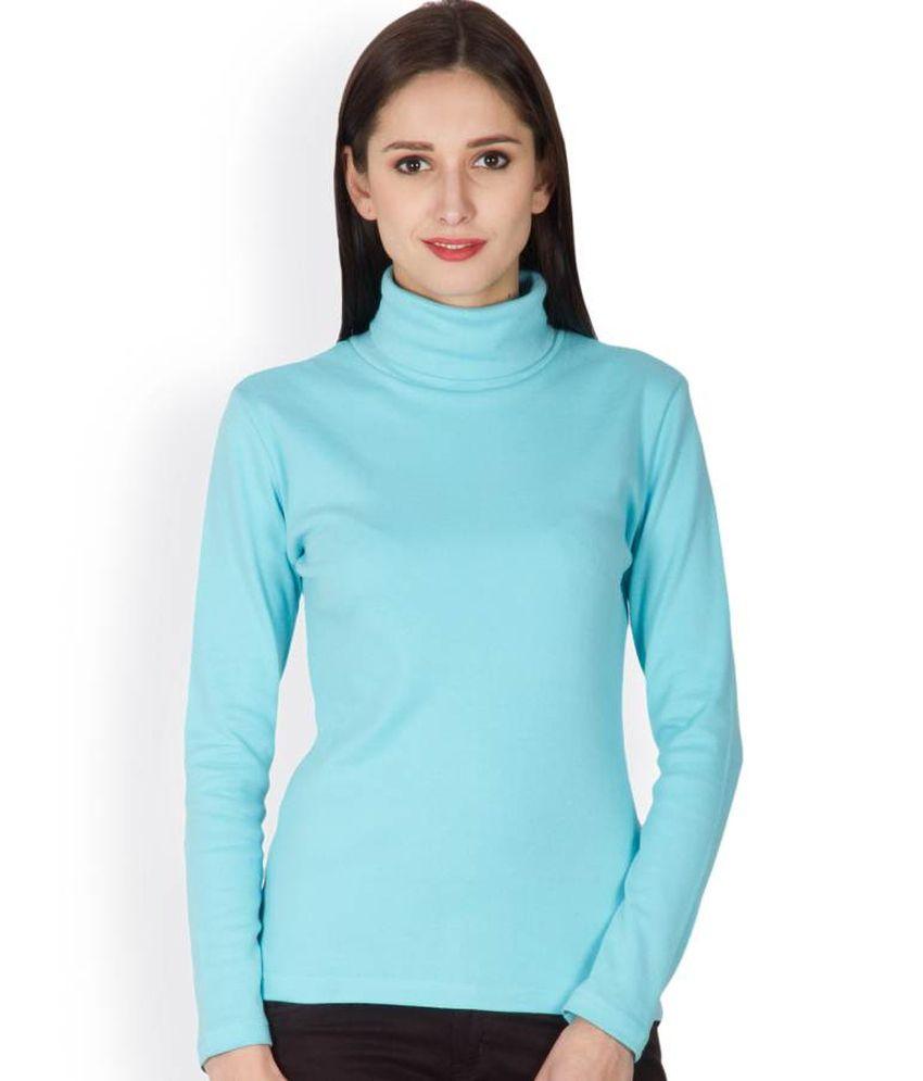 Hypernation Blue Cotton Polos