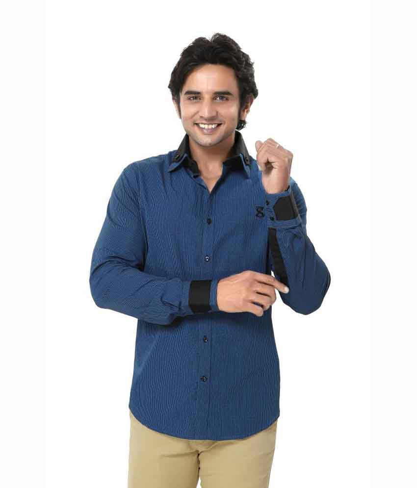e4a01a426a2 Zorro - Casual / Partywear - Men Shirt - Club Wear - Cotton - Blue ...