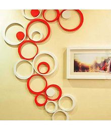 Quick View. MM Decors Acrylic 3D Red White Circle Wall Stickers ... Part 48