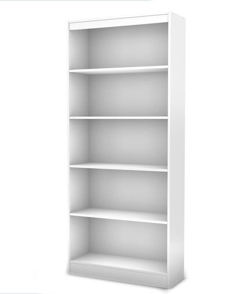 Silver Pine Simple Bookcase White Laminate: Buy Silver
